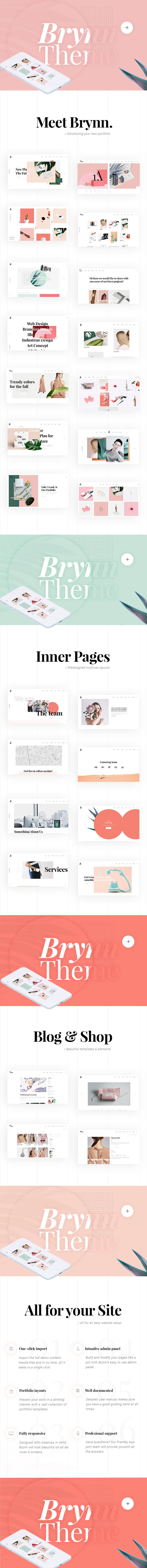 Brynn - Creative Portfolio Theme - 1